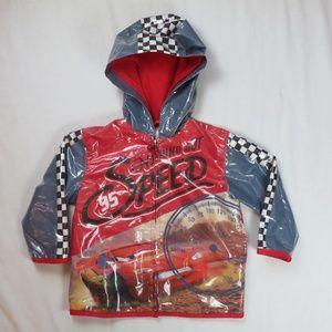Disney Cars 2T Raincoat Jacket Lightning McQueen
